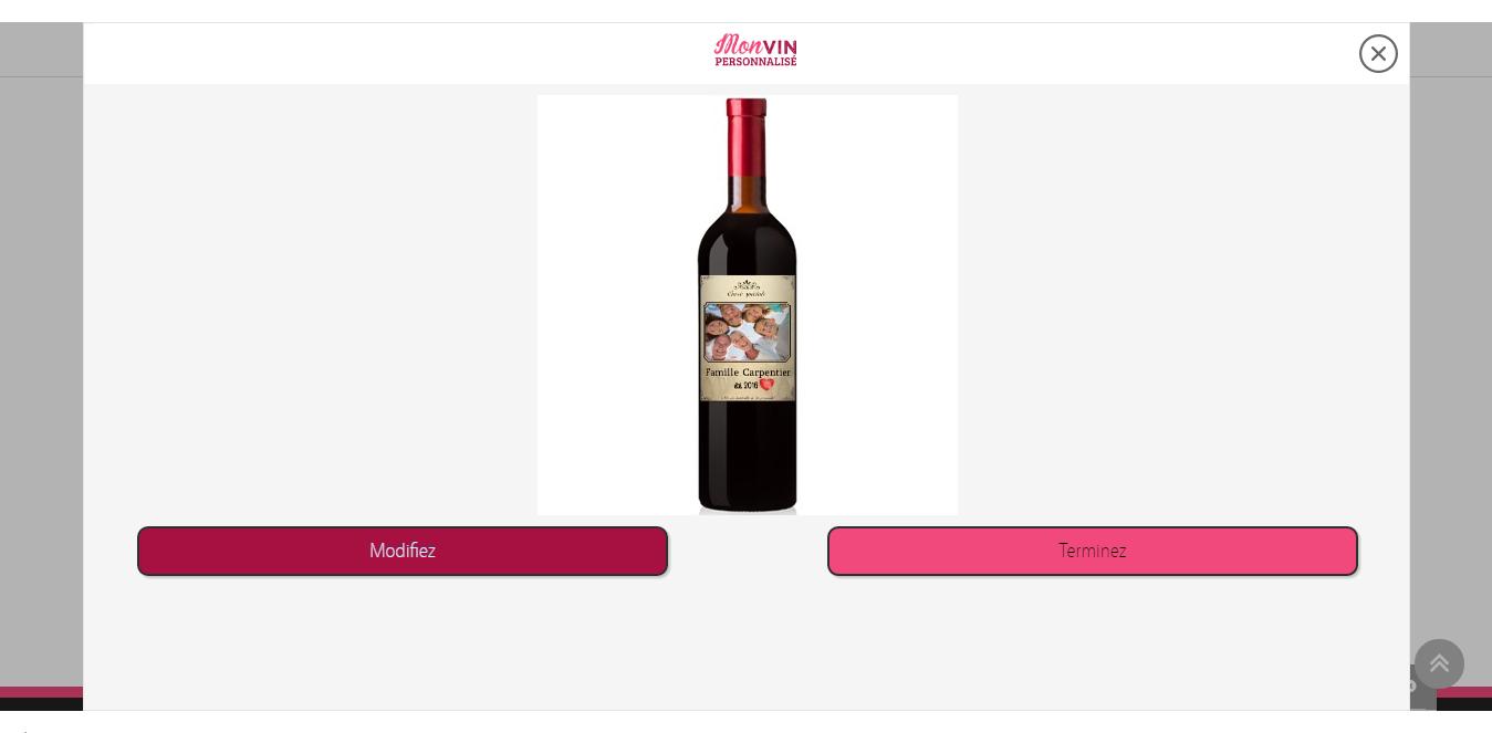 Bouteille Personnalisée - Mon Vin Personnalisé