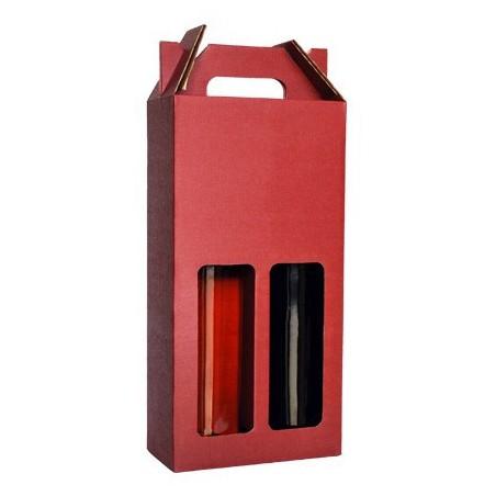 Valisette Carton lie de vin 2 bouteilles