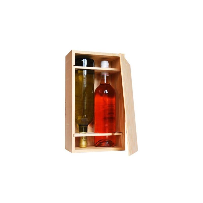 Caisse Bois 2 bouteilles