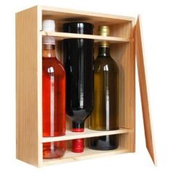 Caisse Bois 3 bouteilles