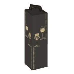 Coffret Carton noire et or 1 bouteille